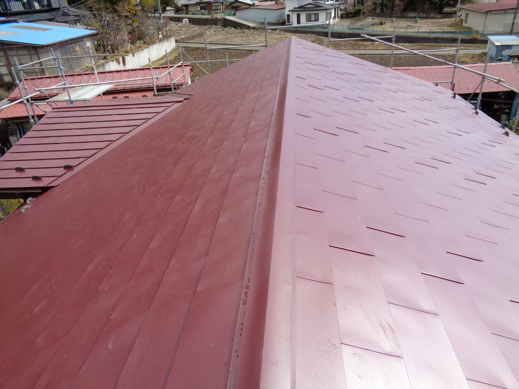 カバー工法 屋根ガルバリウム鋼板張り工事