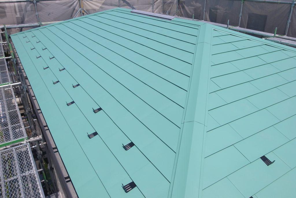 ガルバリウム鋼板カバー工法(重ね)葺きリフォーム工事