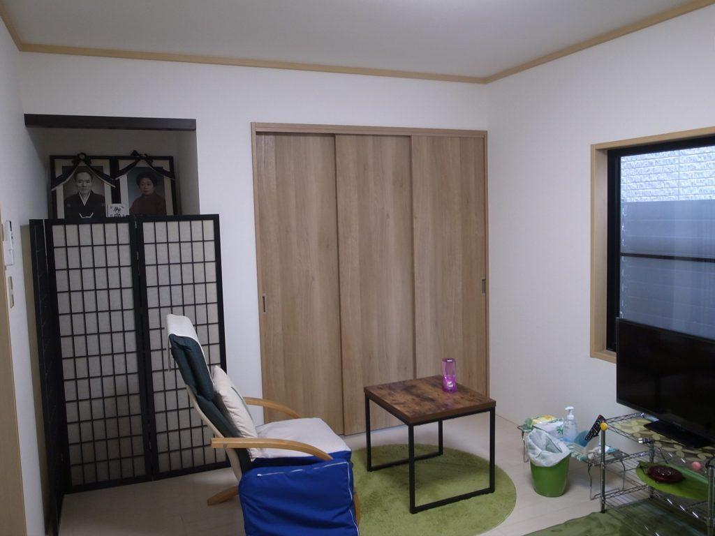 和室からフローリングの洋室にリフォーム工事